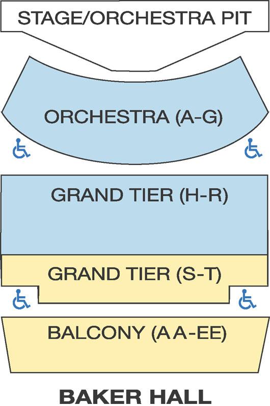 Seating Charts Zoellner Arts Center